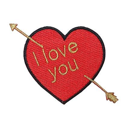 Amazon Com Id 3238 I Love You Heart Patch Valentines Day Arrow
