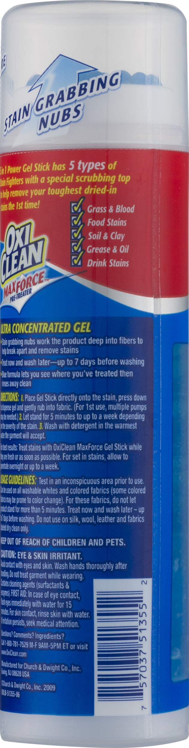OxiClean Max Force Gel Stick, 6.2 Oz (Pack of 12) by OxiClean (Image #5)
