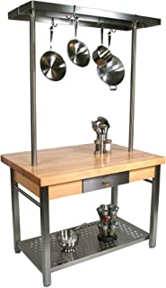 product image for John Boos Edge Grain Maple Cucina Americana Grande Large Drop Leaf TableGrain
