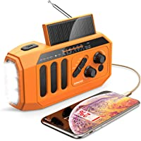 $35 » AOMAIS Emergency Radio, 5000mAh Hand Crank Solar Weather Radio, NOAA/AM/FM…