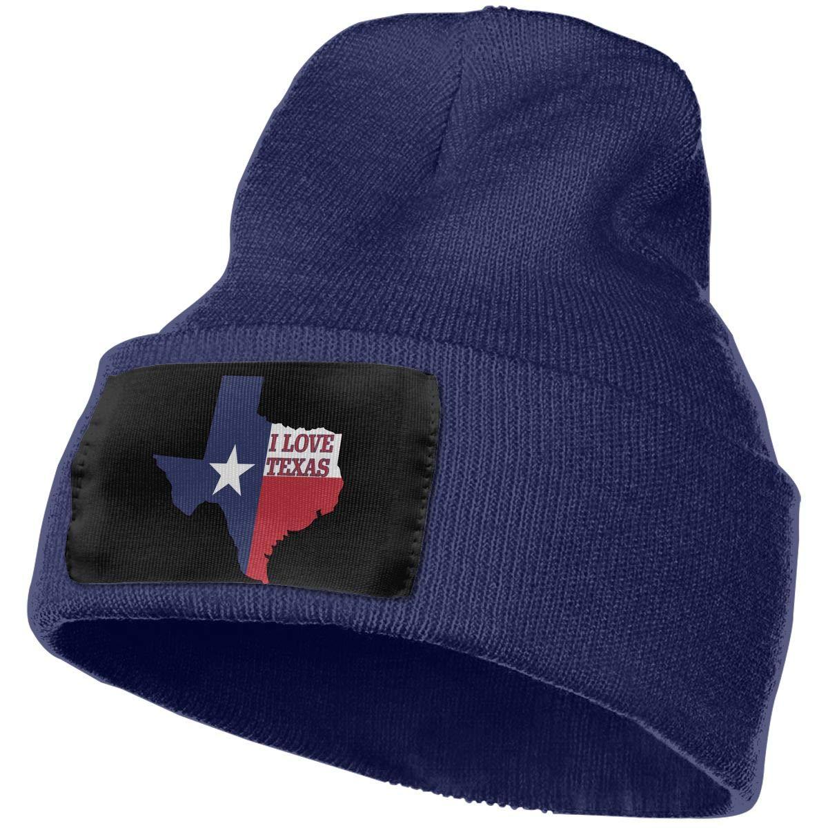 I Love Texas Texan Flag Thick Ski Cap Unisex 100/% Acrylic Knit Hat Cap