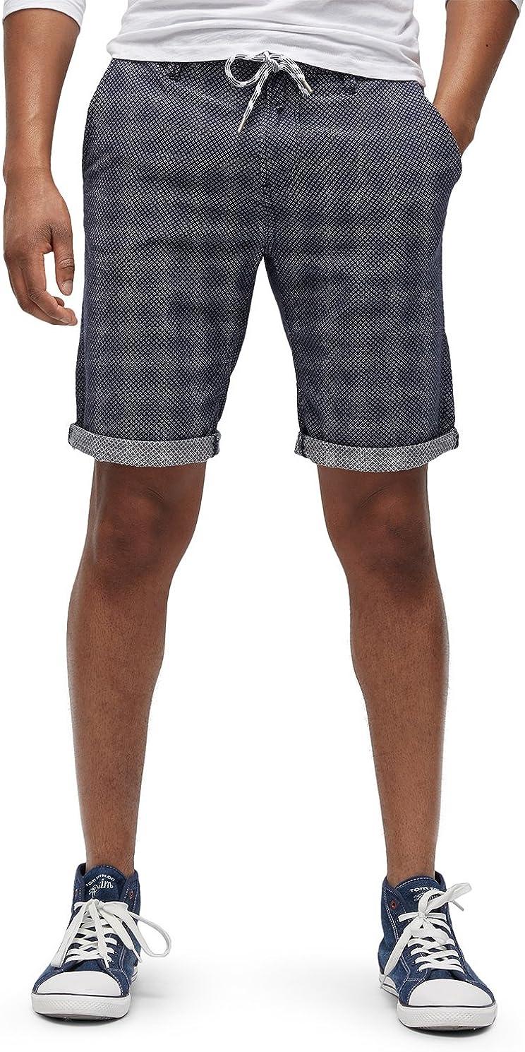 Tom Tailor Denim Slim Chino Shorts Yarn Dye Pantalones Cortos para Hombre