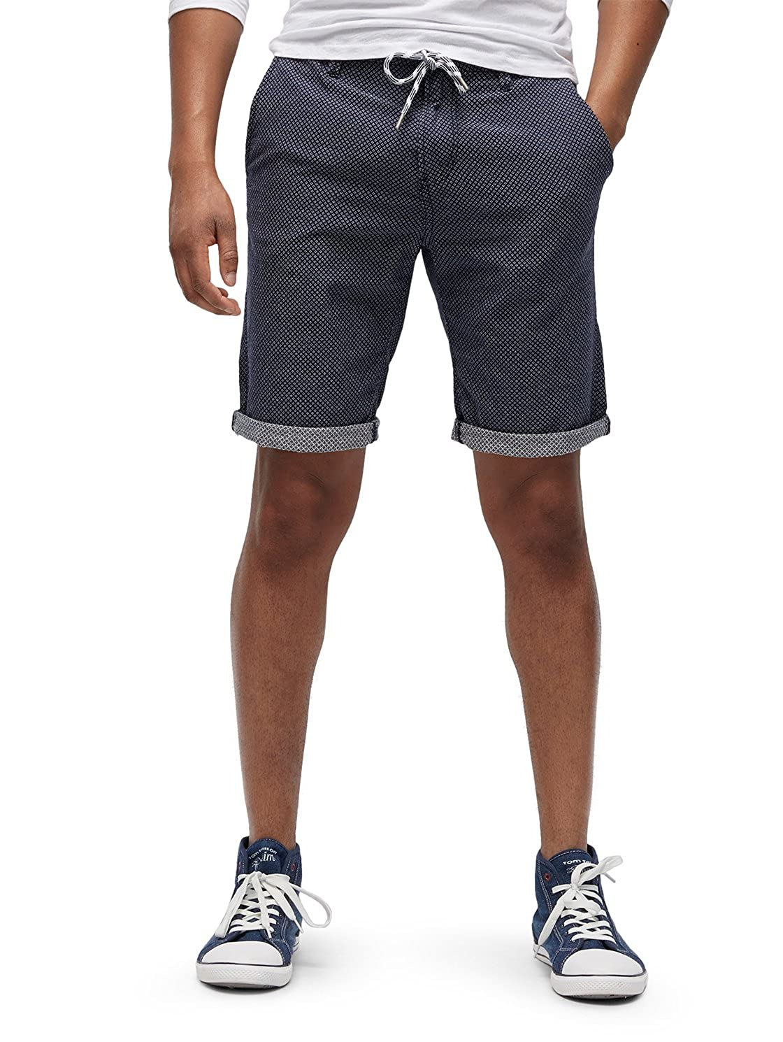 Tom Tailor Denim Slim Chino Shorts Yarn Dye, Pantalones Cortos para Hombre