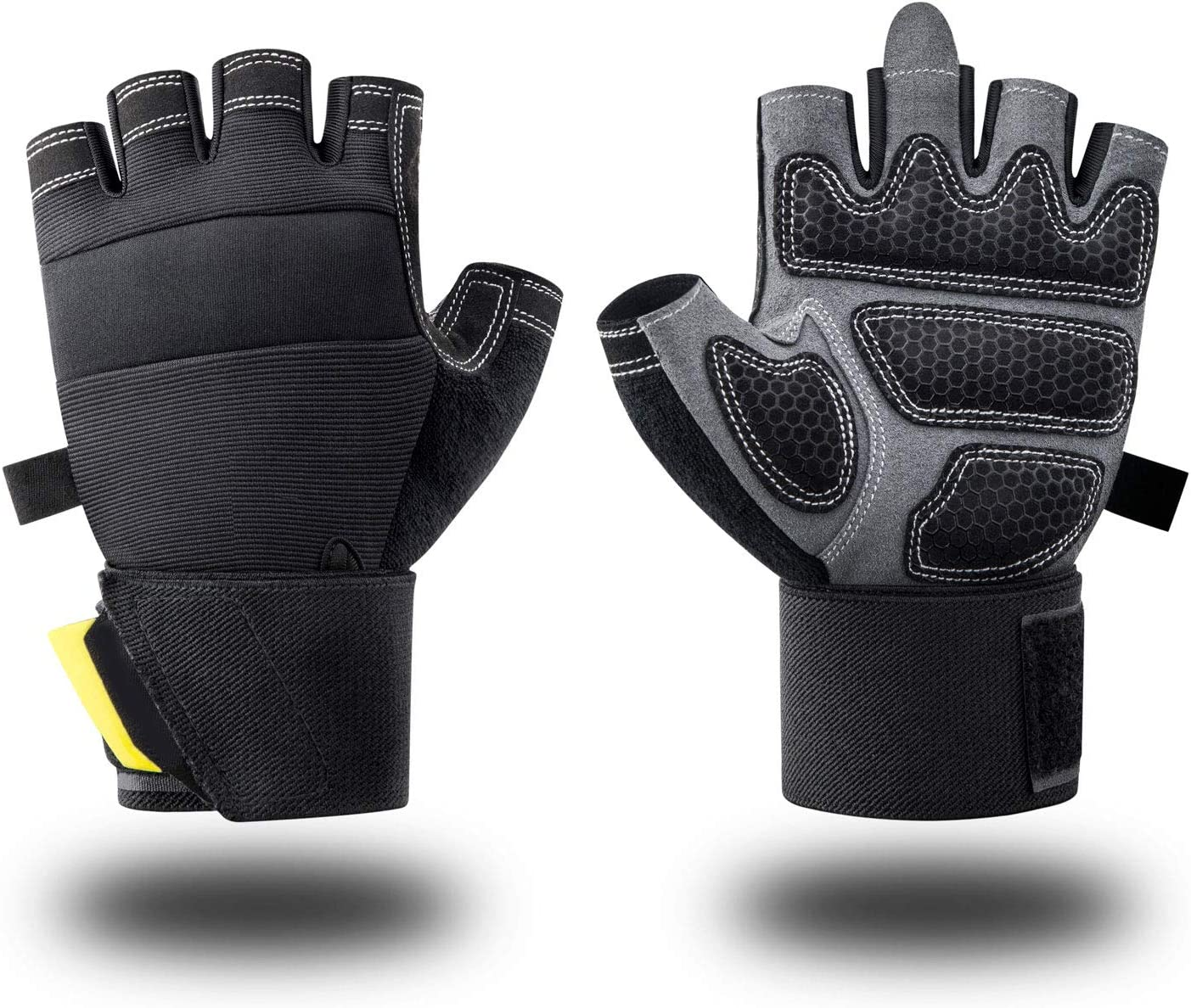 Great for Weight lifting,Pull Ups,Crossfit Training and Cycling Suit for Men /& Women Weight lifting gloves Training gloves with wrist support Libershine Gym Gloves