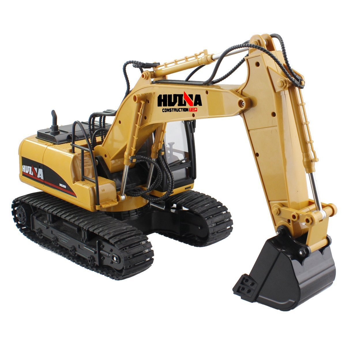 RC Truck Remote Control Excavator Crawler Tractor 15 Channel 2.4G Construction Vehicle Digger Electronics Hobby Toys with Simulation Sound and Flashing Lights by fisca (Image #2)