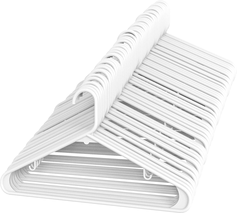 60 x White Adult Plastic Coat Hangers Cloth Child Baby Clothes Hanger