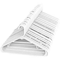 Sharpty White Plastic Hangers, Plastic Clothes Hangers Ideal for Everyday Standard Use, Clothing Hangers (60 Pack)