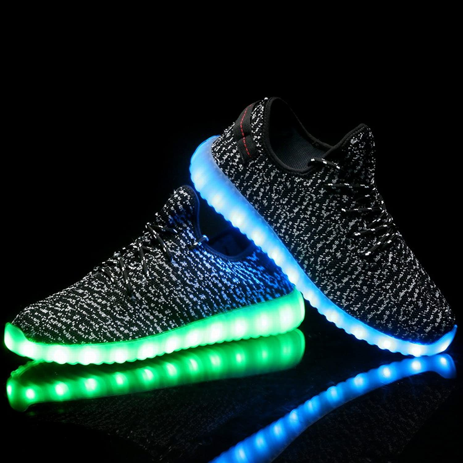 LED Flashing Sneakers Light Up Sport Shoes for Mens Boys