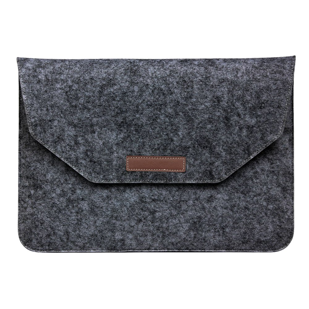 Laptop Sleeve SODIAL Fashion Soft Sleeve Bag Case For Apple Macbook Air Pro Retina inch Laptop Anti-scratch Cover For Mac book inch- Dark Gray