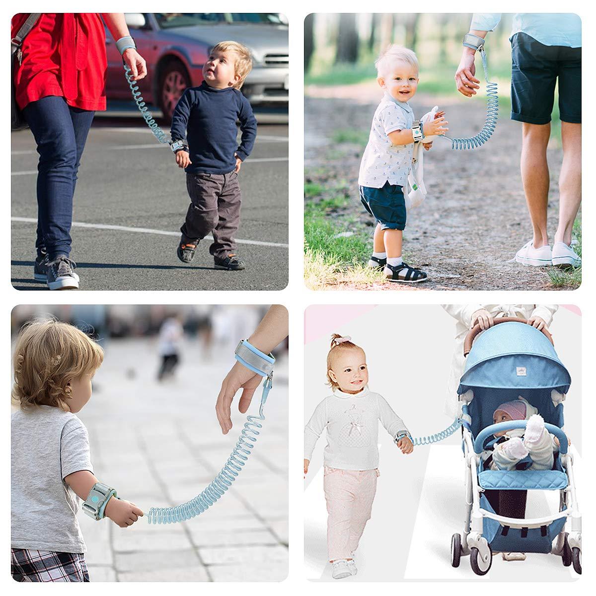 Laisse Poignet Enfant,Harnais de S/écurit/é pour Enfant 1.5m//Bleu perdu Ceinture Harnais de S/écurit/é Enfant pour S/écurit/é Poignet Corde. Anti
