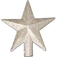 4 petite treasures silver glittered mini star christmas tree topper unlit