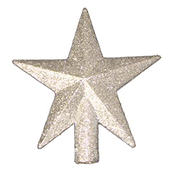 4 petite treasures silver glittered mini star christmas tree topper unlit - Christmas Tree Topper Star