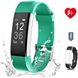 Ronten Fitness Tracker, R2 Plus Heart Rate Monitor Waterproof Activity Tracker, Bluetooth Wireless Smart Bracelet with Replacement Strap for Android and IOS Smartphones