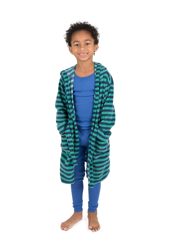 2 Toddler-14 Years Leveret Kids Robe Boys Hooded Fleece Sleep Robe Bathrobe Variety of Colors