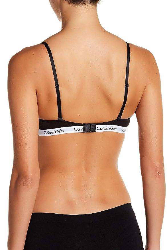 0464de3817e16 Calvin Klein Women s Id Cotton Large Waistband Triangle Unlined Bra at  Amazon Women s Clothing store