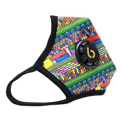 6mask PM 2.5 - Máscara anticontaminación lavable para correr, ciclismo y otras actividades al aire