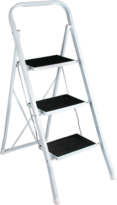 Trittleiter 1 Stufen Stahl-Klapptritt Rutschfest Stehleiter Einfacher Transport und Aufbewahrung f/ür die K/üche Heim B/üro DIY-Malerei Mehrzweckleiter bis 150 kg belastbar