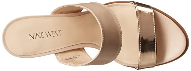 Amazon.com | Nine West Women's Pretty Princess Leather Heeled Sandal, Light  Natural/Light Natural, 5 M US | Platforms & Wedges
