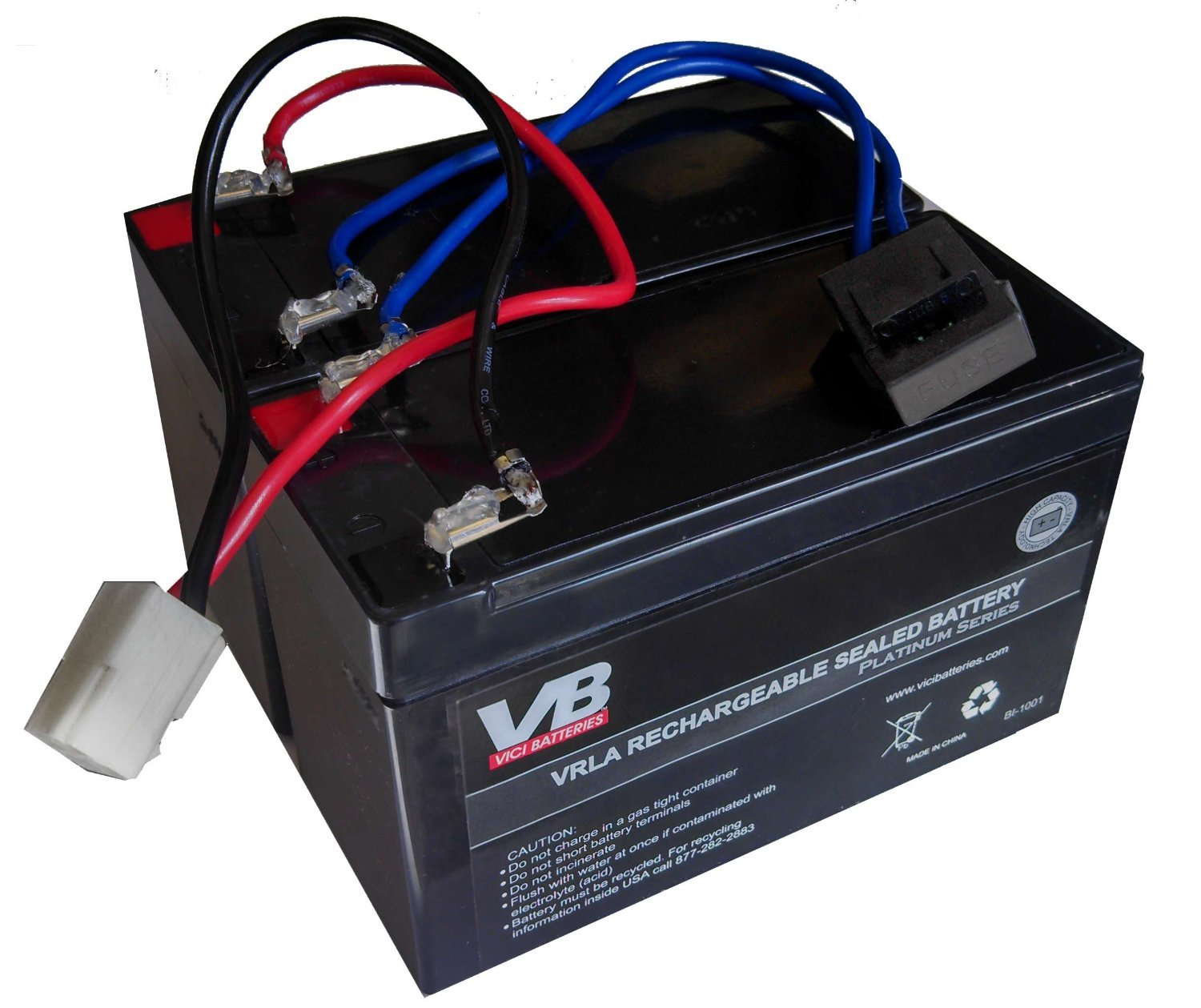 MX400 9 ah High Capacity Razor Battery Replacement - Includes Wiring Harness (9 ah HIGH capacity - 24 volt system) by Vici Battery