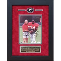 $299 » Herschel Walker Vince Dooley Autographed Georgia Bulldogs 8x10 photo custom framed JSA COA
