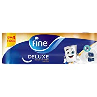 FINE Toilet Paper Deluxe 150 Sheets 3 Ply / Pack of 12 Rolls