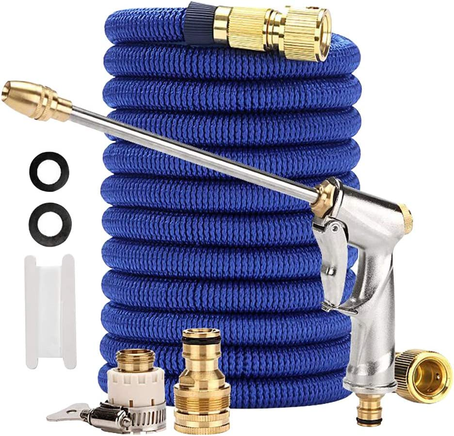Expandable Garden Hose, No Kink Flexible Water Hose with Handheld High Pressure Water Sprayer For Garden, Yard, Patio, Car Washing, Pet Cleaning