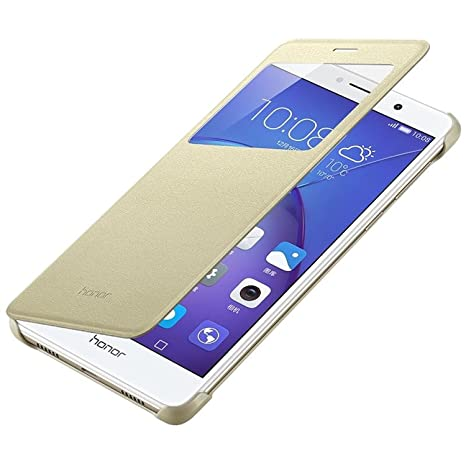 new style c2761 b0416 Planet jas Huawei Honor 6x official original Phone Case flip cover back s  view window sensor for Huawei Honor 6x - Gold