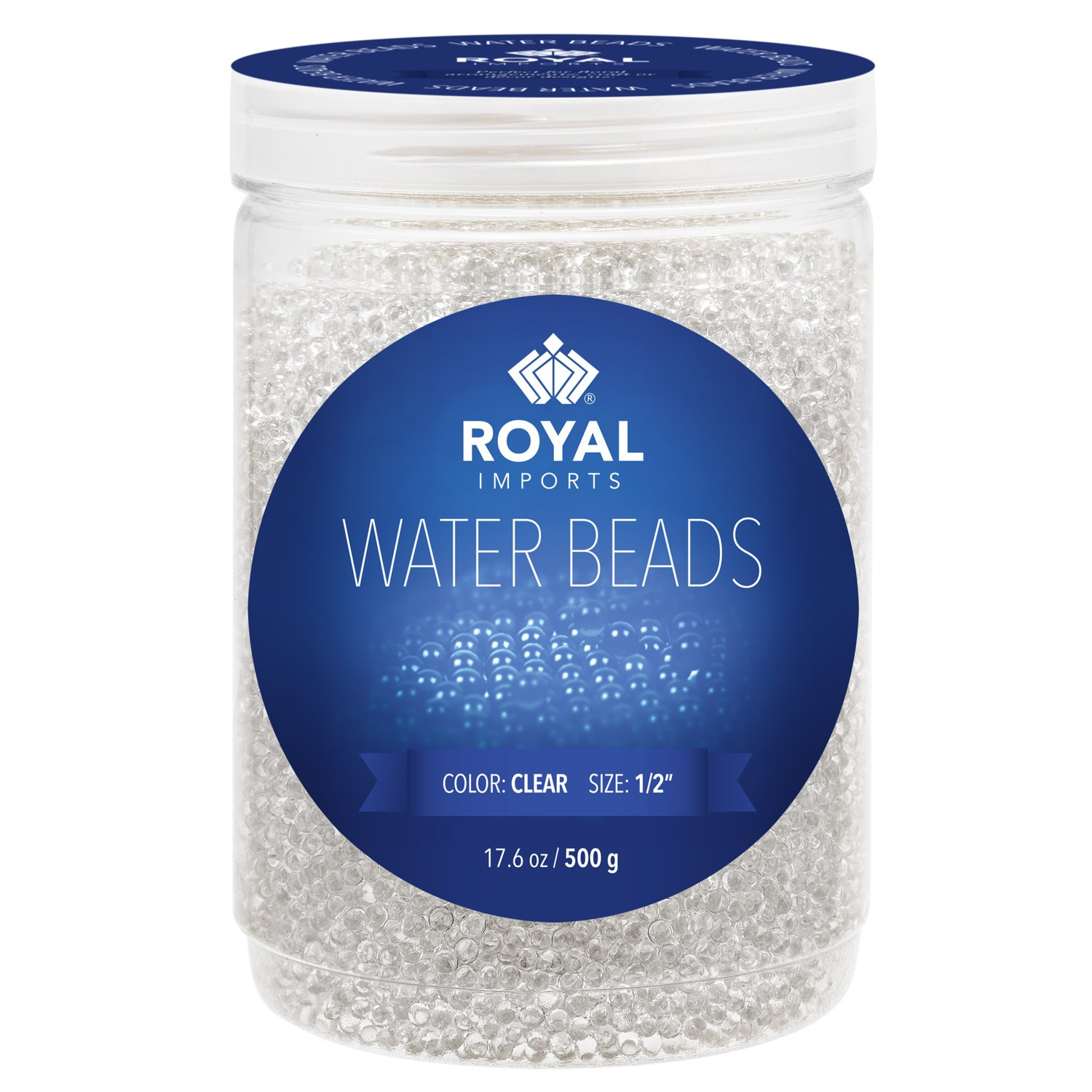 Royal Imports 20,000 Water Beads Vase Filler, Clear Gel Pearls Jelly Balls For Centerpieces, Weddings, Parties, Decorations (500 Gram - Makes 16 Gallons)