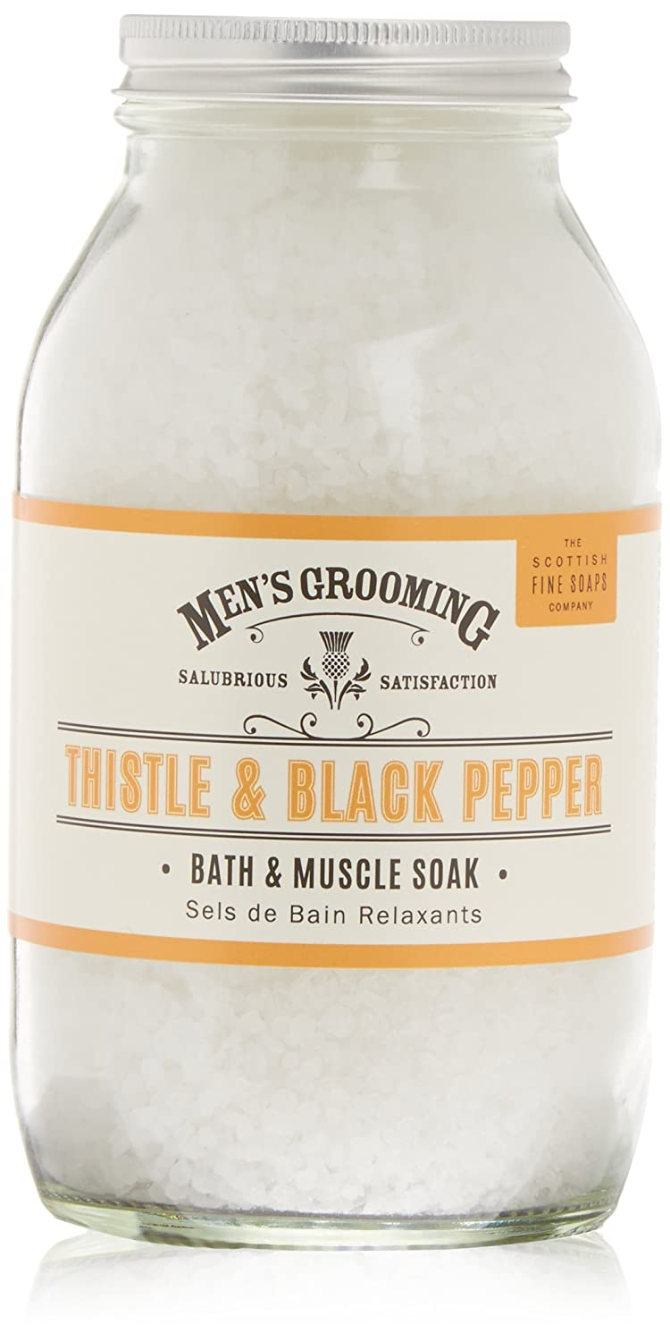'Men's Grooming' Thistle And Black Pepper Bath And Muscle Soak Jar 600G Scottish Fine Soaps No aplica