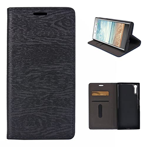 """Sony Xperia XZ/XZS/XR Etui a Rabet, Moon mood® Portefeuille Anti-choc Support Coque pour Sony Xperia XZ XZS XR 5.2"""" Protable Cas de Téléphone Housse de Protection Bookstyle Case Solide Pochette Magn&eac"""