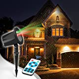 Christmas Projector lights Outdoor, InnooLight Aluminum Red and Green Garden Starry Lights Show, Outdoor Christmas Spot Lights Outdoor with RF Remote for Christmas, Halloween, Holiday Decoration