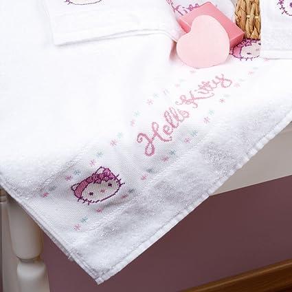 Vervaco - Juego de 2 toallas de baño, diseño de Hello Kitty