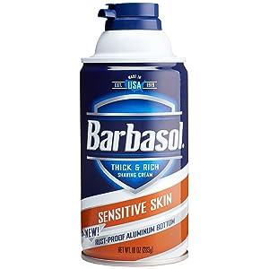 Barbasol Sensitive Skin Thick and Rich Shaving Cream, 10 Ounce