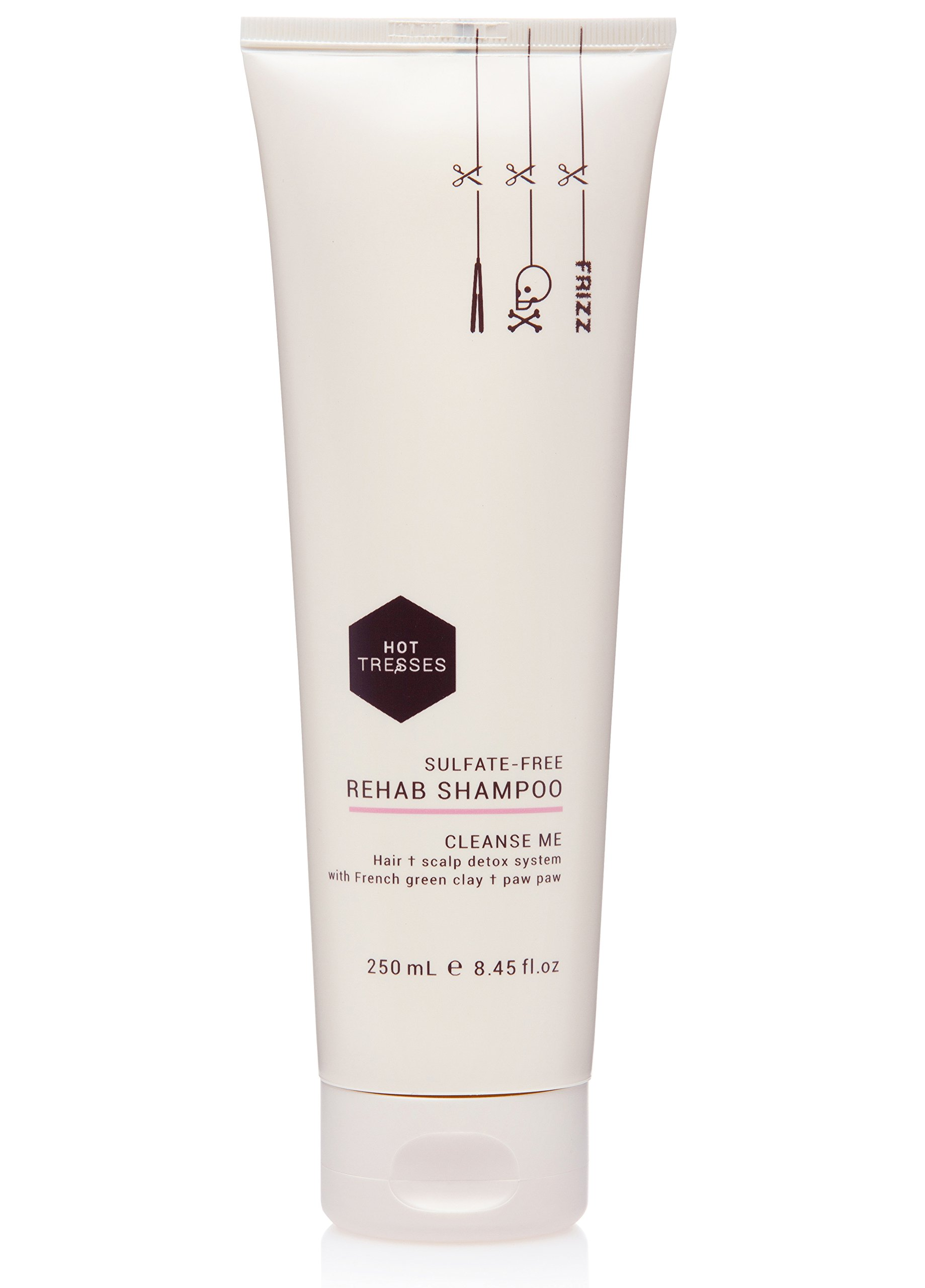 Natural Vegan and Cruelty Free Shampoo ::: Sulfate-Free Rehab Shampoo, 8.45 fl.oz ::: Sulfate Free and Paraben Free by Hot Tresses