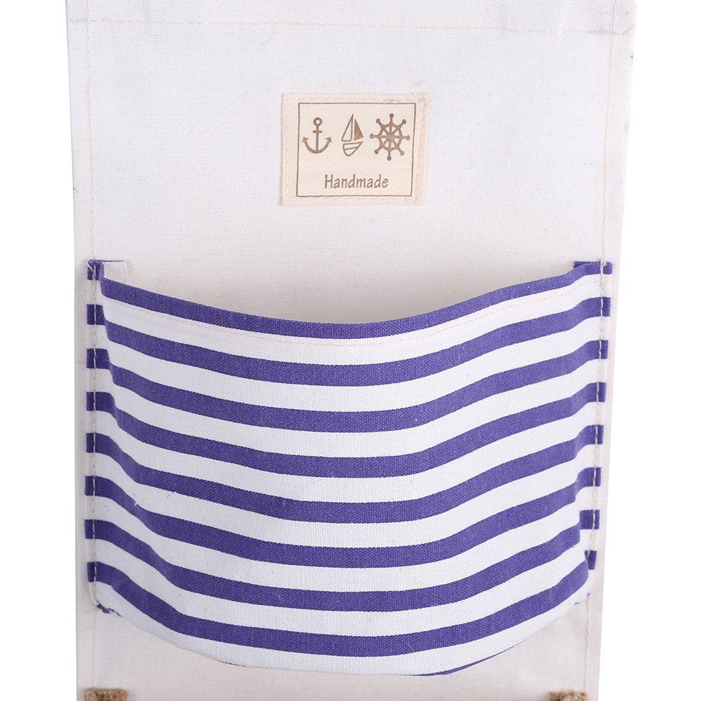 Estanteria colgante Organizador estante 3 bolsillos que cuelgan la bolsa de almacenamiento de ropa de algod/ón armario pared bolsa juguetes para el dormitorio Rojo cocina ba/ño