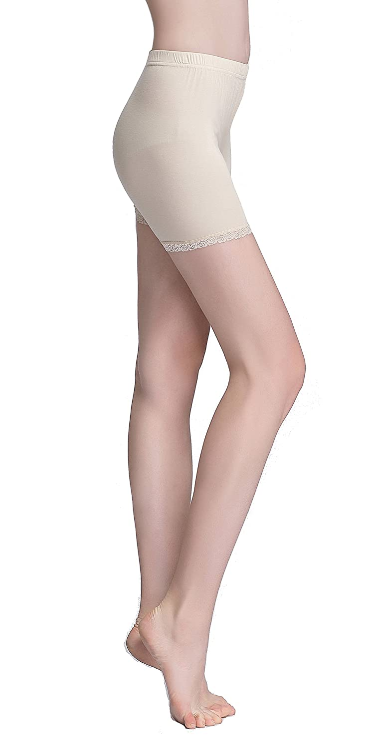 b880f8d662f7ee Vinconie Women Under Skirt Leggings Safety Pants Yoga Tights Lace Shorts:  Amazon.co.uk: Clothing