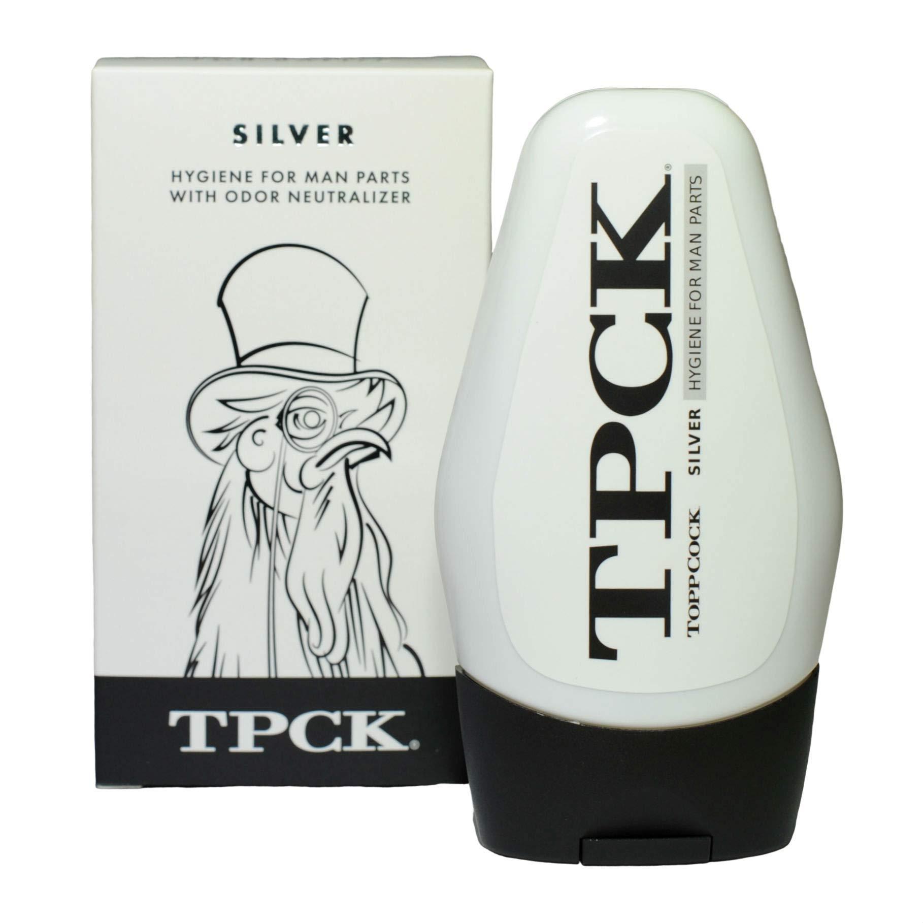 TPCK ToppCock Silver Leave-On Hygiene Gel for Man Parts, 90ml Odor Neutralizer, Male Care Moisturizing Body Hygiene