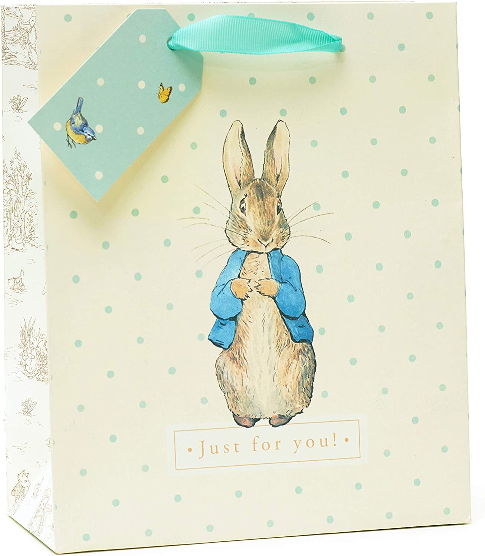 Bolsa de regalo mediana – ideal para regalos de cumpleaños – Peter Rabbit bolsa de regalo: Amazon.es: Oficina y papelería