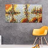Yotree Paintings, 24x48 inch Paintings Skyline Oil