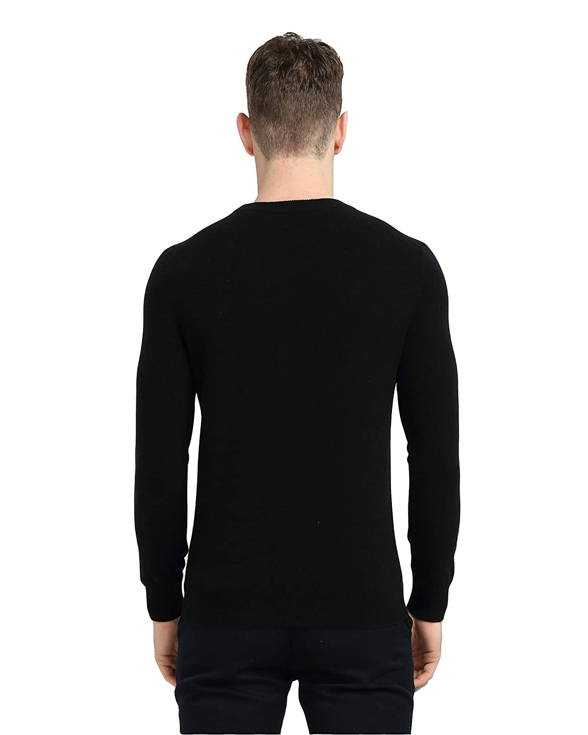 7bb08fc2 MIUK 2017 New Men's 100% Cashmere Sweater Round Neck Simple Basic Slim  Pullovers