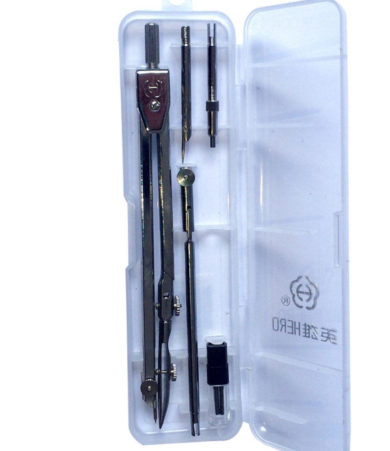 Grekywin Drawing Compass Set, Stainless Steel Drawing Compass Math Geometry Tools for Circles.