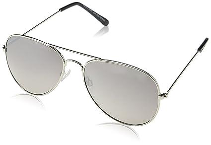 Occffy Aviatore Occhiali da Sole per Uomo Donna con il Metallo Telaio UV400 Protezione (Telaio d'argento con lente rosa) R1qKhEnd
