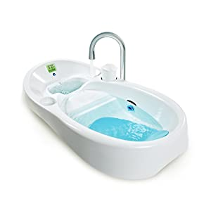 Hereu0027s A Tub With A Unique Design To Help Clean Water Flow Around Your Baby  All The Time. The Sink Or Tub Tap Fills Up One Side Of The Bathtub While  Water ...