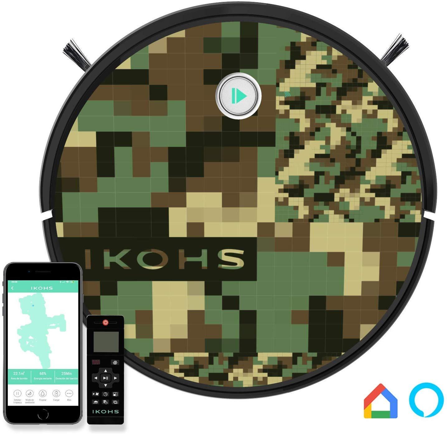 Vinilo Reposicionable Cambia el Aspecto Robot Variedad Dise/ños Leopard Print Calidad Resistente y Duradero F/ácil Aplicaci/ón IKOHS Vinilos para Personalizar Netbot S15 Robot Aspirador