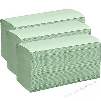 Toallas de papel Toallas Plegables verde 25 x 23 cm 1 capa ZZ veces 5000 hojas