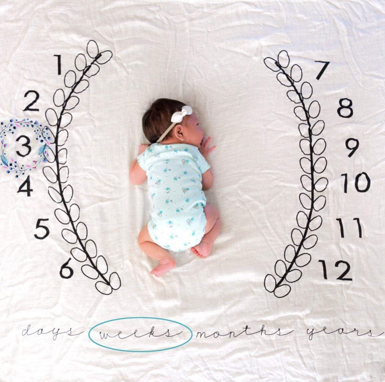 Oso 100 * 100cm Beb/é Manta Mensual Hito Franela Manta Mensual De Hito Para Beb/é Manta Mensual De Beb/é Para Fotos Regalos Personalizados Para Futuras Mam/ás para Beb/é Reci/én Nacido