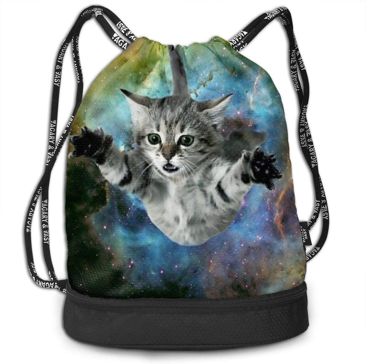 Galaxy Fly Cat Multifunctional Bundle Backpack Shoulder Bag For Men And Women
