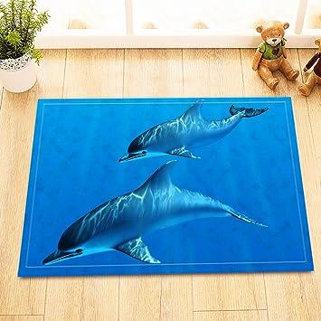 Lb Eltern Und Kind Delphin Im Underwater Badematte 40 60 Cm
