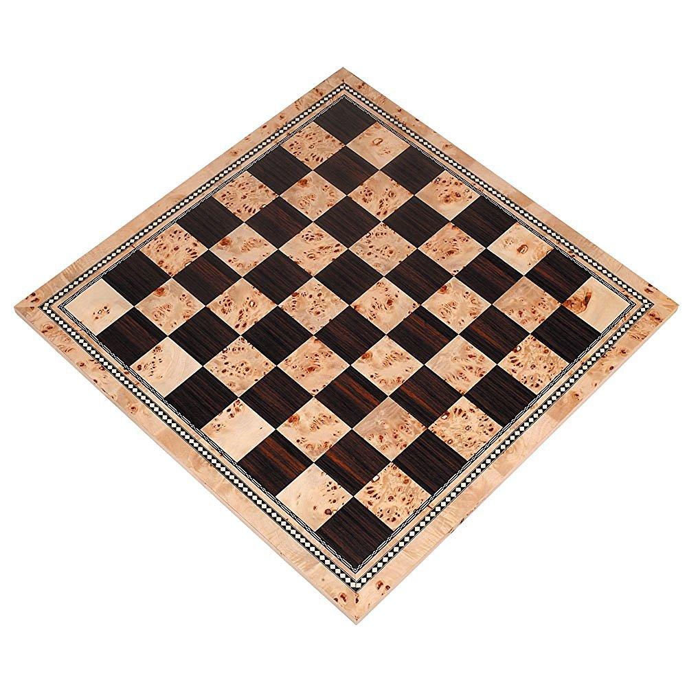 最低価格の Atlas Only Ebony Tournament Chess 21 Board with Inlaid Burl and Ebony Wood - Board Only - 21 Inch [並行輸入品] B01M5B546R, 手づくりバッグのお店 花やか:f33ebab2 --- cygne.mdxdemo.com