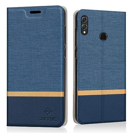 miglior servizio 9530f 64cc0 RIFFUE Cover Honor View 10 Lite, Custodia Flip Caso in Denim Portafoglio  Slot per Schede Sottile Protettiva Cover per Huawei Honor View 10  Lite/Honor ...